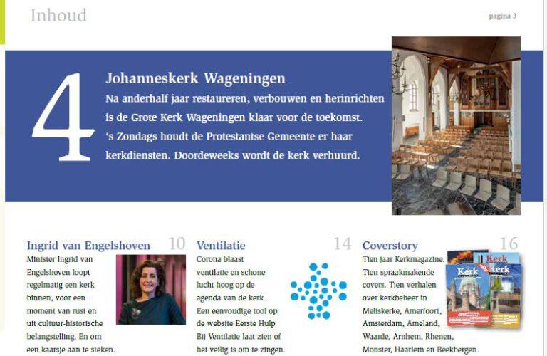 Prominent in 'Kerkmagazine'; het onafhankelijk facilitair vakblad voor kerken