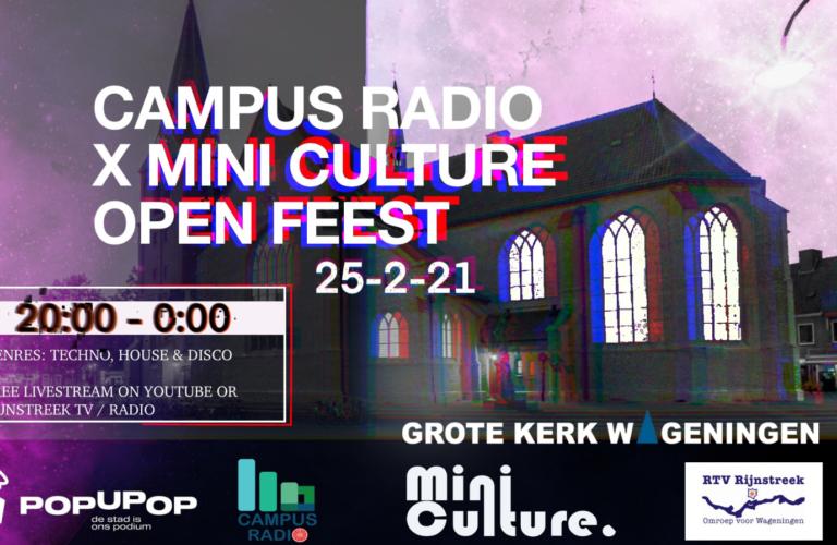 MiniCulture X Campus Radio – Live from Grote Kerk Wageningen